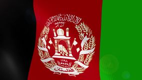Afghanistan realistic flag animation. Usable for Background and Texture royalty free illustration