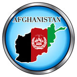 Afghanistan Round Button Royalty Free Stock Photo