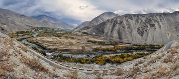 Afghanistan. Scenic panorama of valley in Afghanistan stock image