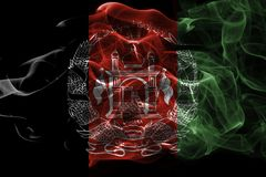 Afghanistan smoke flag. Isolated on a black background stock illustration
