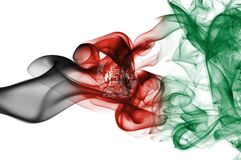 Afghanistan smoke flag Royalty Free Stock Photo