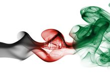 Afghanistan smoke flag. Isolated on a white background royalty free illustration
