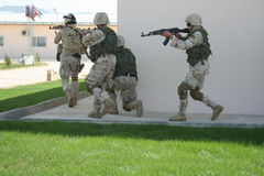 Afghanistan special forces. Storming a building Royalty Free Stock Photo