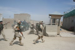 Afghanistan special forces. Storming a building in Mazar e Sharif Royalty Free Stock Photos