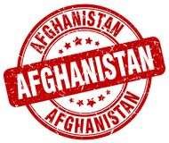 Afghanistan stamp. Afghanistan round grunge stamp isolated on white background. Afghanistan
