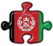 Afghanistan-Tastenmarkierungsfahnen-Puzzlespielform Stockbild