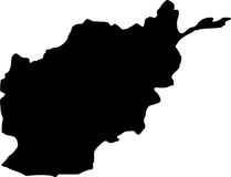 Afghanistan vector map Stock Photo