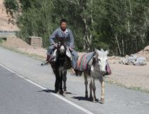 Afghanistan village street life in the west in the summer of 2018 stock photos