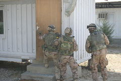 Afghanistan war. Swedish military conducting operations in Mazar e Sharif Stock Photo