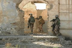Afghanistan war. Swedish military conducting operations in Mazar e Sharif Royalty Free Stock Photography