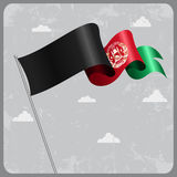 Afghanistan wavy flag. Vector illustration. Afghanistan flag wavy abstract background. Vector illustration Royalty Free Stock Photography