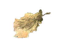 Afghanistan On White Background Royalty Free Stock Image