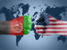 Afghanistan x USA Royalty Free Stock Images