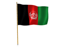 Afghanistani Seidemarkierungsfahne stock abbildung