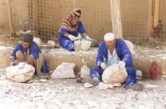 Afghans at Work Stock Image