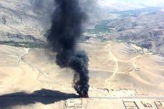 Afghansk explosion Arkivbild