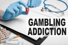 Afhankelijkheid bij risico en het gokken Verslavingsbehandeling royalty-vrije stock afbeelding