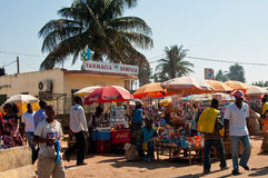 afican marknad arkivbild