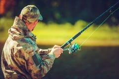 Afición de la pesca con mosca foto de archivo libre de regalías