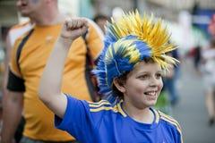 Aficionado al fútbol Fotografía de archivo libre de regalías