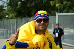 Aficionado al fútbol colombiano Imagen de archivo
