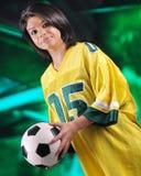 Aficionado al fútbol serio Fotografía de archivo