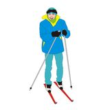 Aficionado del esquiador Fotos de archivo libres de regalías