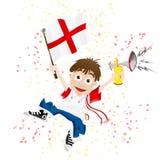Aficionado deportivo de Inglaterra con el indicador stock de ilustración
