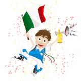 Aficionado desportivo de Italy Imagem de Stock
