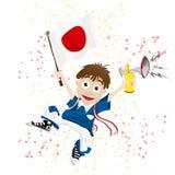 Aficionado desportivo de Japão Foto de Stock