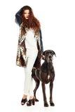 Aficionado do cão Fotos de Stock Royalty Free