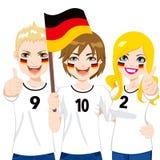 Aficionados al fútbol alemanes Imágenes de archivo libres de regalías