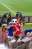 Aficionados al fútbol americanos en el final 2015 de mundial de la FIFA Women's Fotos de archivo
