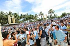 Aficionados al fútbol del mundial 2014 Fotos de archivo libres de regalías