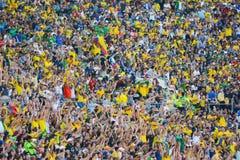 Aficionados al fútbol durante Copa América Centenario Imagen de archivo