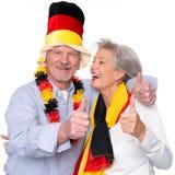Aficionados deportivos mayores alemanes Imagen de archivo