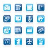 Aficiones e iconos del ocio Imágenes de archivo libres de regalías