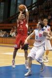 Afik Nissim - basket-ball Nymburk de CEZ Photographie stock libre de droits