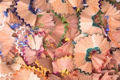 Afiladura de los lápices del color Fotografía de archivo