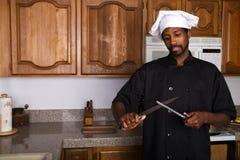 Afiladura del cuchillo Fotografía de archivo libre de regalías