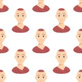 Afiliação dos tons de pele da afiliação étnica diferente fresca dos retratos dos povos das nações dos avatars e vetor étnicos dif Foto de Stock