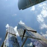 从AFIMALL城市,莫斯科市的资本城市看法  免版税库存照片