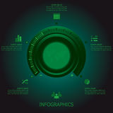 Afinador Business Infographics Design do botão Fotografia de Stock Royalty Free