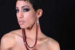 afircan amerikansk kvinna Royaltyfri Foto