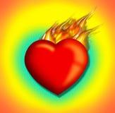 Afire2 do coração Fotografia de Stock Royalty Free