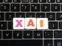 Afkorting XAI op toetsenbordachtergrond Stock Foto