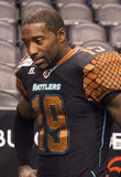 AFL Arizona Rattlers Defensive Back Marquis Floyd. Arizona Rattlers Defensive Back Marquis Floyd. The Rattlers won their third consecutive ArenaBowl Championship Royalty Free Stock Photography