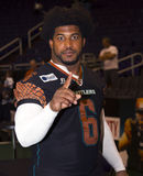 AFL Arizona Rattlers defensive end Cliff Dukes. AFL Arizona Rattlers Cliff Dukes. The Rattlers won their third consecutive ArenaBowl Championship Royalty Free Stock Photo