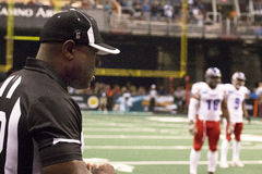 AFL Referee Official at Arizona Rattlers game. AFL official during a timeout at Arizona Rattlers game Stock Image