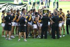 AFL Richmond team. Editorial,Australian rules football, Richmond football team the tigers Stock Image